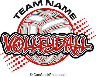 diseño, voleibol