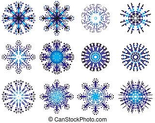 diseños, copo de nieve
