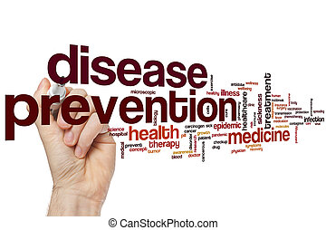 Disease prevention word cloud