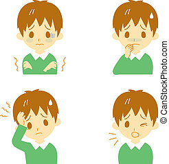 Disease Symptoms 01, boy - Disease Symptoms 01, fever and ...
