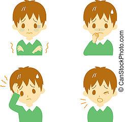 Disease Symptoms 01, boy - Disease Symptoms 01, fever and...