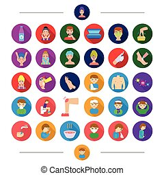Disease, treatment, virus and other web icon in cartoon style.cosmetology, care, medicine, icons in set collection.