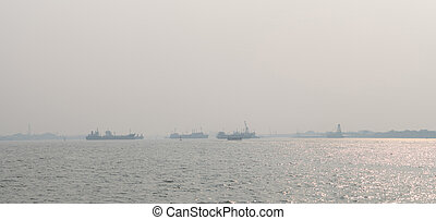 diseases., pier., monóxido, warming, ambiental, poluição, global, gás, enchido, problem., mau, respiratório, 2.5, pm, pó, carbono, problema, areje qualidade, causas, dust.