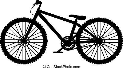 disegnare, bicicletta, saltare, sporcizia