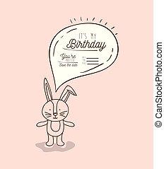 disegnare, mano, compleanno, animale, mio, scheda