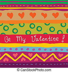 disegnato, mano, scheda, valentina