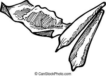 disegnato, marijuana, mano
