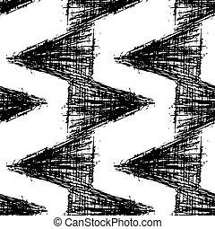 disegnato, pattern., seamless, mano