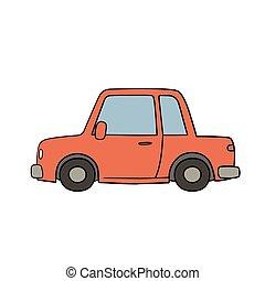 disegnato, stile, vecchio, automobile