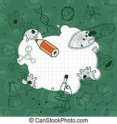 disegni, board., biologia, scuola