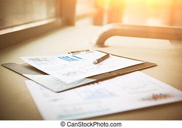 disegni, e, tabelle, di, riuscito, affari, posto lavoro, di, il, uomo affari
