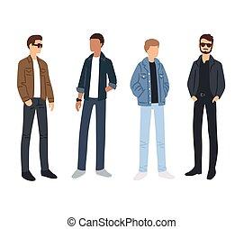 disegni, maschio, moda