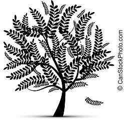 disegno, arte, albero, tuo
