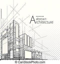disegno astratto, architettonico