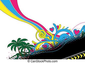 disegno astratto, colorito