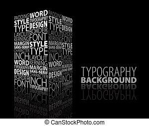 disegno astratto, e, tipografia, fondo