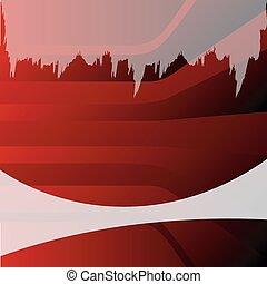 disegno astratto, sfondo rosso