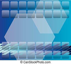 disegno, blu, astratto, fondo