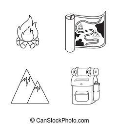 disegno, campeggio