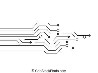 disegno, circuito, illustrazione