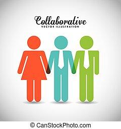 disegno, collaborative, persone