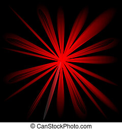 disegno colore, rosso, scoppio