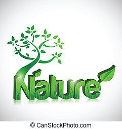 disegno, concetto, albero, illustrazione, natura