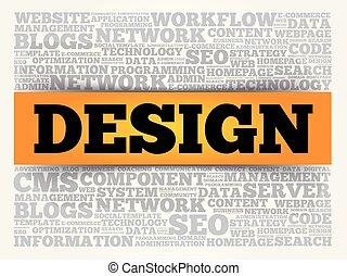 disegno, concetto, parola, nuvola, fondo