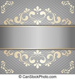 disegno configurazione, lusso, oro, fondo