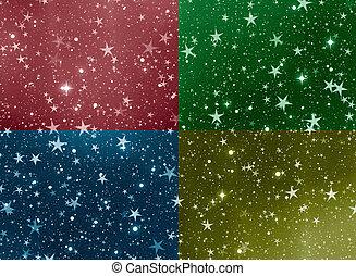 disegno, creativo, sfondi, stelle, spazio