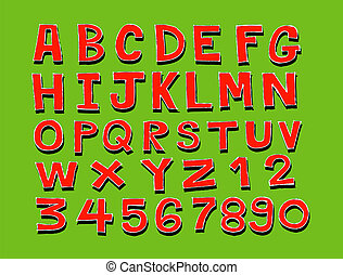 disegno, di, linea, font, schizzo, mano, dra