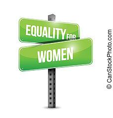 disegno, donne, uguaglianza, illustrazione, segno