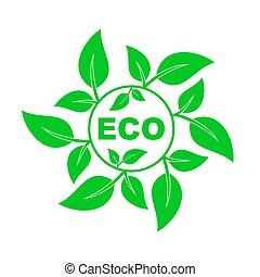 disegno, eco, vettore, element., environment., amichevole
