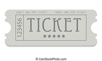 disegno, entrata, vecchio, biglietto, speciale