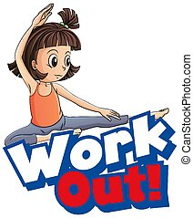 disegno, esercizio, lavoro, capretto, font, parola, fuori