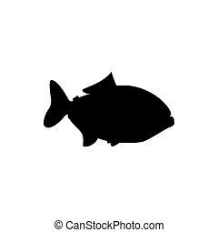 disegno, fish, piranha, logotipo