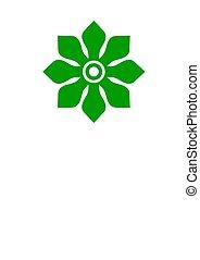 disegno floreale, concetto, 1