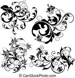 disegno floreale, elementi