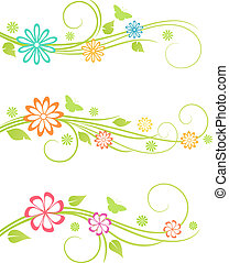 disegno floreale, elements.