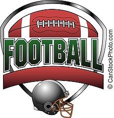 disegno, football, bandiera, testo