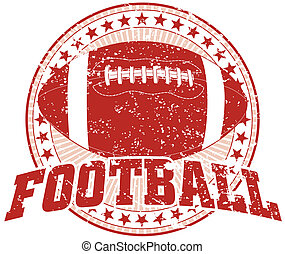 disegno, football, -, vendemmia