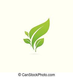 disegno, giardino, logo., paesaggio, pianta, ecologia, vettore, natura