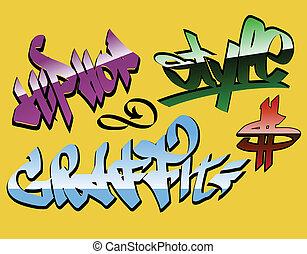 disegno, graffito, parole