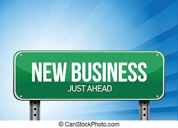disegno, illustrazione affari, segno, verde, nuovo