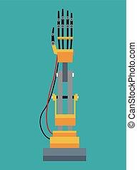 disegno industriale, braccio robot