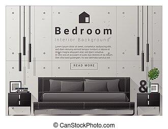 Interno casa disegno stanza camera letto children for Disegno casa interno