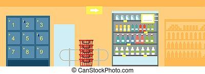 disegno interno, supermercato