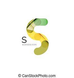 disegno, lettera, logotipo, font, o, minimo