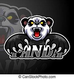 disegno, logotipo, panda, mascotte, esport