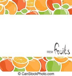 disegno, mele, arance